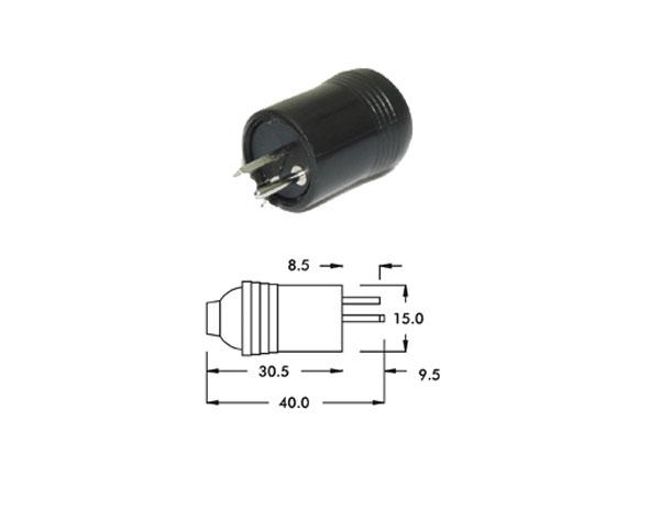 Alpha Elettronica - [1-1] Spina punto e linea DIN 41529