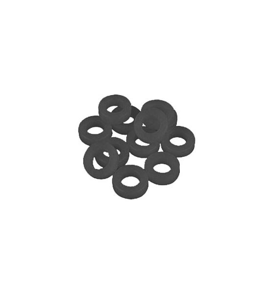 Pearl - Rondella in plastica per tiranti nera (conf. 12pz) NLW-12/12