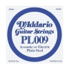 D'Addario - LP009 Electric/Acoustic Plain Steel Strings