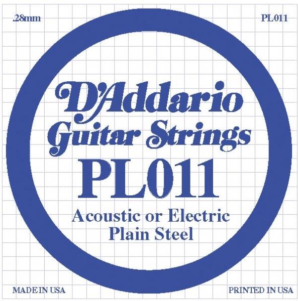 D'Addario - LP011 Electric/Acoustic Plain Steel Strings