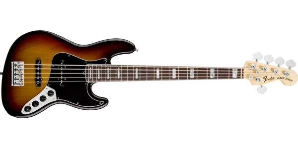 Fender - American Deluxe - Jazz Bass V 3-Color Sunburst Rosewood