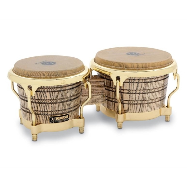 Lp Latin Percussion - [LP793X] Bongos LP Galaxy Giovanni Series, Natural/Gold