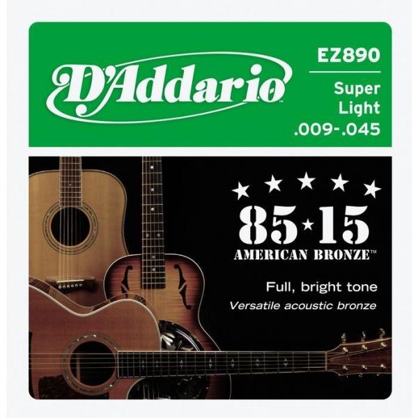 D'Addario - [EZ890] Set American Bronze 85/15 Super Lignt .009 - .045