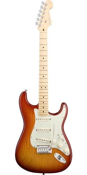 Fender - American Deluxe - Strat Ash Aged Cherry Sunburst Maple