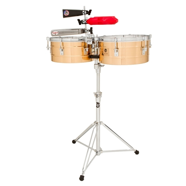 "Lp Latin Percussion - [LP257-BZ] Tito Puente 14"" & 15"" Timbales, Bronze"