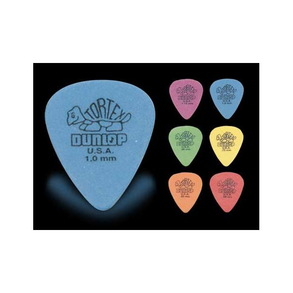 Dunlop - 418r tortex picks.