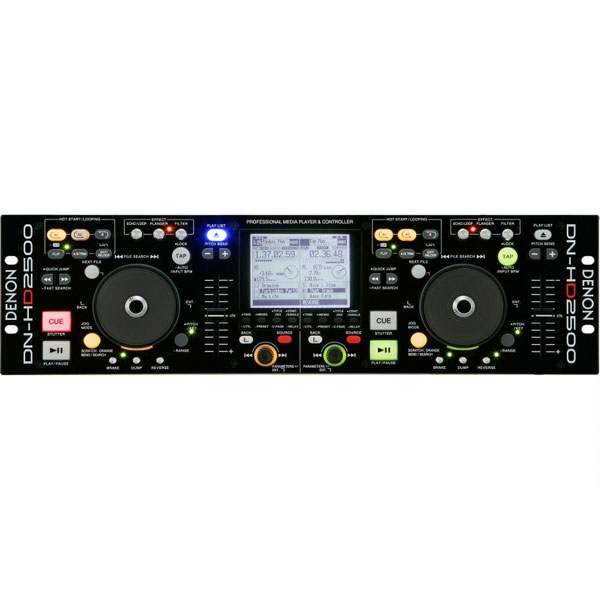 Denon - [DN-HD2500] Lettore multimediale rack per DJ con HD interno e USB