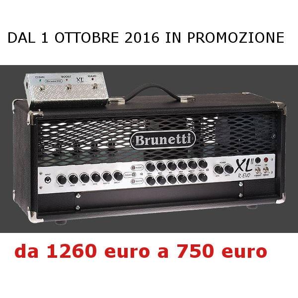 Brunetti - [XL60 R-EVO] Testata Valvolare per chitarra 60w