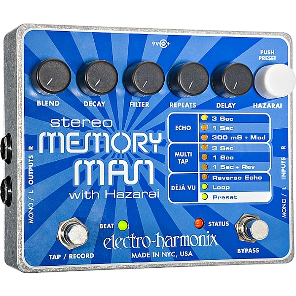 Electro Harmonix - Stereo Memory Man with Hazarai - Delay/Looper digitale