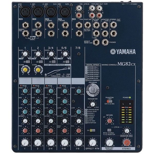 Yamaha - [MG82CX] Mixer 8 canali con effetti