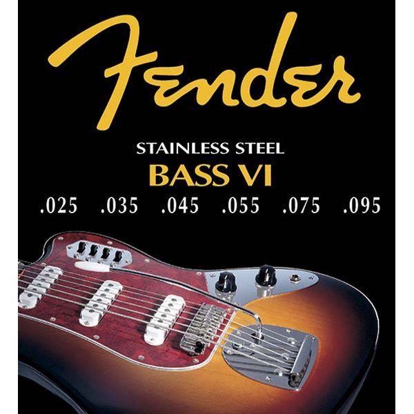 Fender - Jaguar® bass vi custom stainless steel (small ball end)