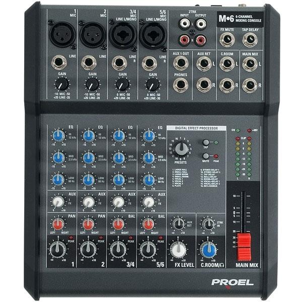 Proel - [Mixer M6] 6 canali con effetti