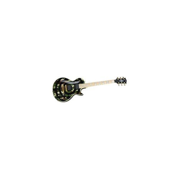 Gibson - Custom zakk wylde signature les paul - camo/bull s-eye electric guitar