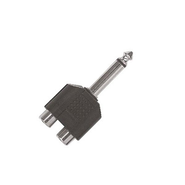 Proel - Adattatore 2x RCA F > jack ø6,3mm mono M [AT240]