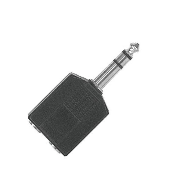Proel - Adattatore 2x jack ø6,3mm stereo F > jack ø6,3mm stereo M [AT170]