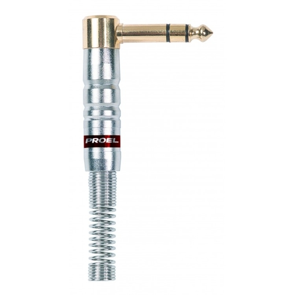 Proel - [S242S] Jack Stereo 6,3 mm angolare 90°