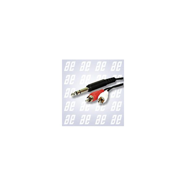 Alpha Elettronica - [15-011] Cavo jack ø6,3mm stereo M > 2x RCA M 5mt