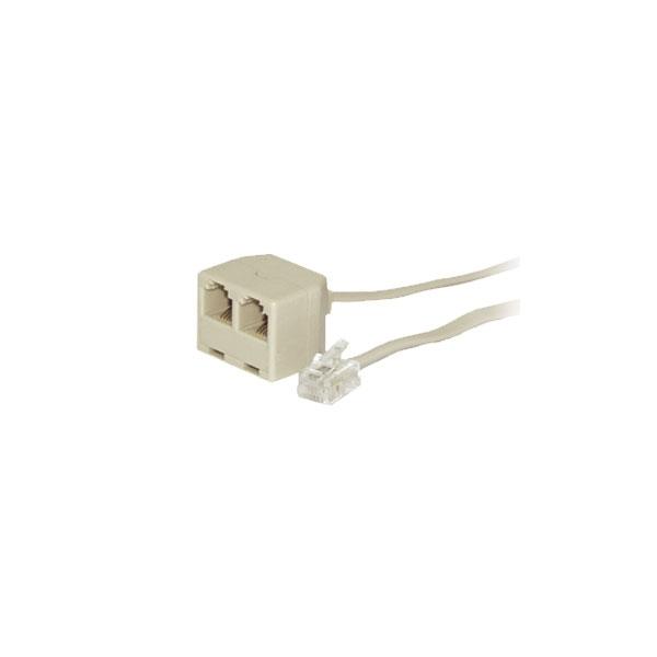 Alpha Elettronica - Cavo RJ11 6P4C M > 2x RJ11 6P4C F 2,1mt [94-795]