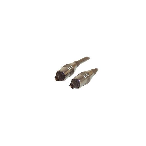 Alpha Elettronica - Cavo digitale fibra ottica Toslink maschio > Toslink maschio 1mt [91-015]