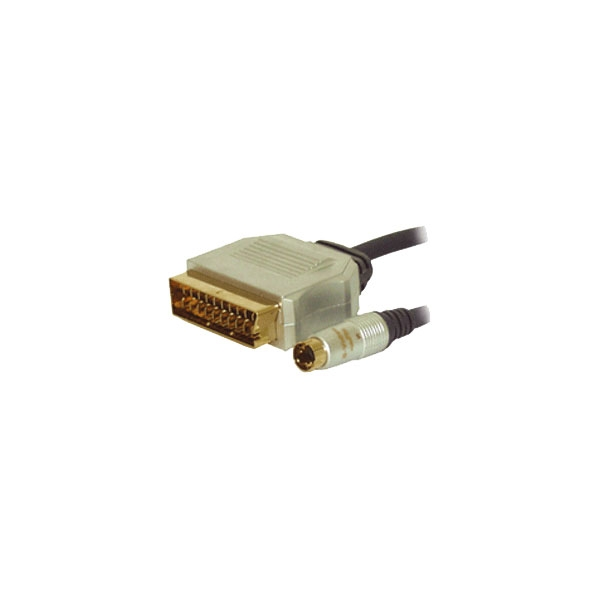 Alpha Elettronica - Cavo professionale video scart in M > S-VHS M 1,5mt [92-530P]