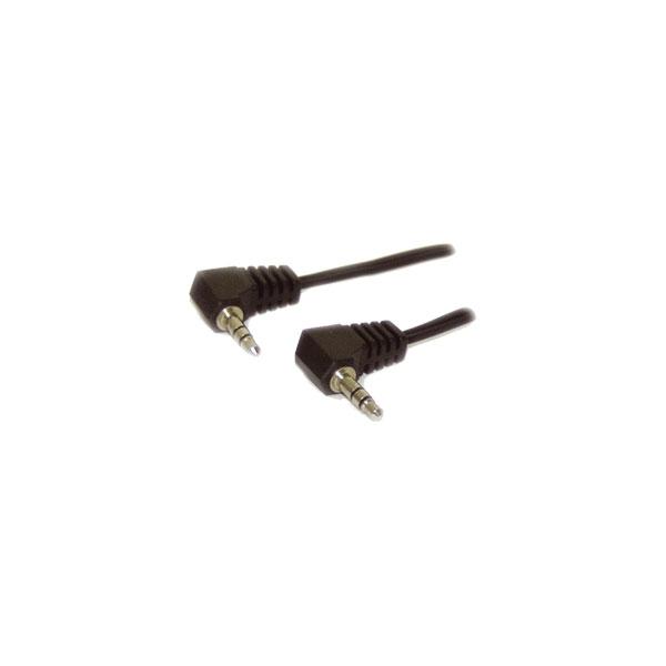 Alpha Elettronica - Cavo jack ø3,5mm 90° stereo > jack ø3,5mm 90° stereo 1,5mt [11-3-012]