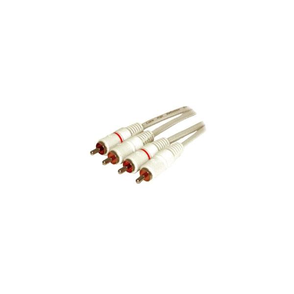 Alpha Elettronica - Cavo 2x RCA maschio > 2x RCA maschio 0,8mt [17-060/0,8H]
