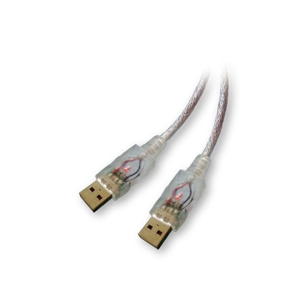 Alpha Elettronica - Cavo con Led USB tipo A M > USB tipo A M 1,8mt [95-620R]