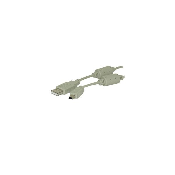 Alpha Elettronica - Cavo con ferriti USB tipo A M > Mini USB tipo B M 1,8mt [95-604]