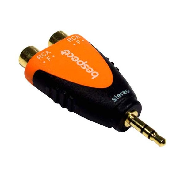 Bespeco - Silos - Adattatore jack ø3,5mm stereo M > 2x RCA F [SLAD380]