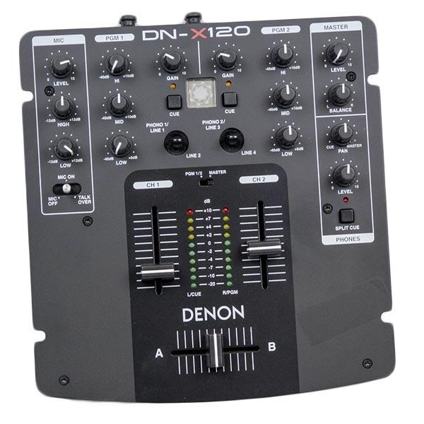 Denon - DN-X120 Desktop DJ Mixer 2 Canali