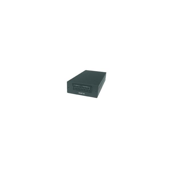 Alpha Elettronica - Convertitore di segnale Scart in F > HDMI F / jack ø3,5mm stereo F [CT363]