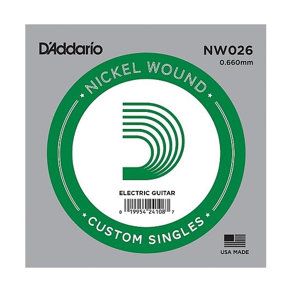 D'Addario - XL Nickel Round Wound - NW026 Corda Singola .026