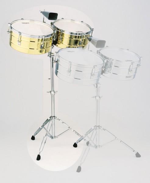 """Lp Latin Percussion - Lp257-b - timbales 14""""-15"""" tito puente - ottone"""