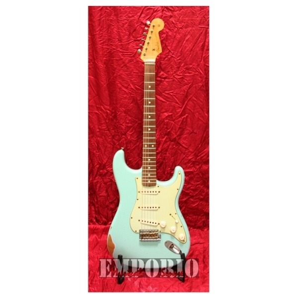Fender - Custom Shop Time Machine - [0150900804] '60 Stratocaster Relic Daphne Blue