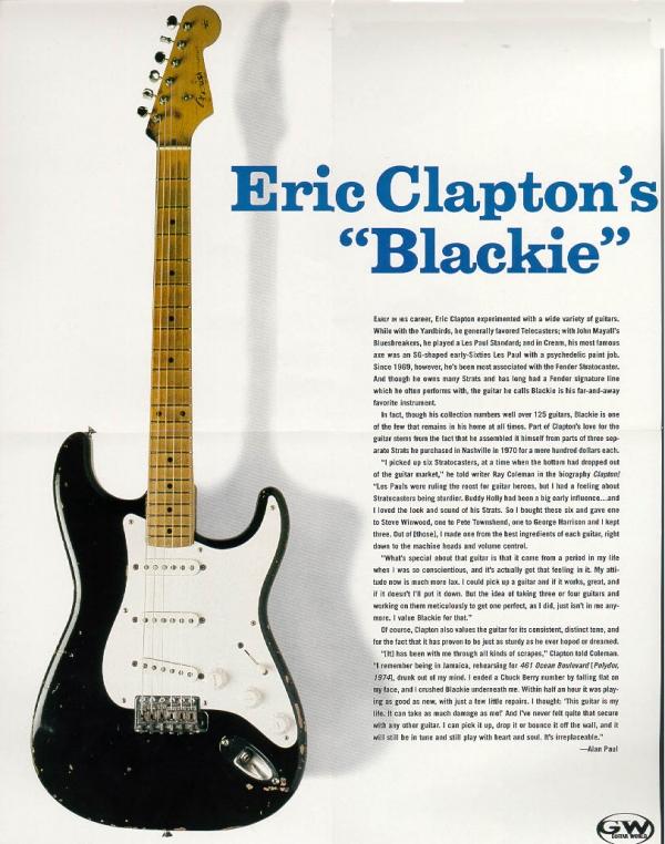 Fender - [0150070806] Clapton Blackie Stratocaster