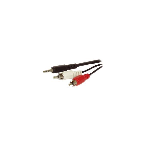 Alpha Elettronica - Cavo jack ø3,5mm stereo > 2 RCA 1,5mt [11-3-002B]