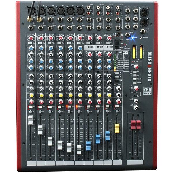 Allen & Heath - Zed - [ZED-12FX] Mixer 12 canali con effetti e USB
