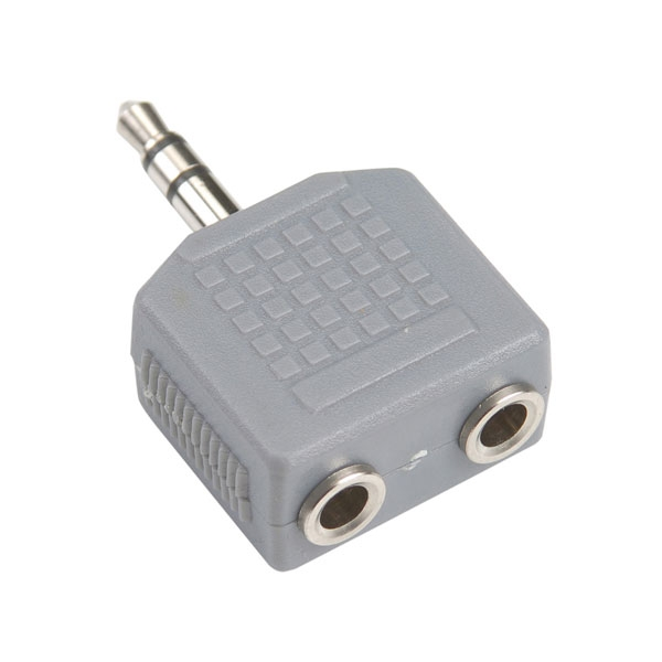 Bandridge - Adattatore jack 3,5mm stereo M > 2x jack 3,5mm stereo F [BAP424]