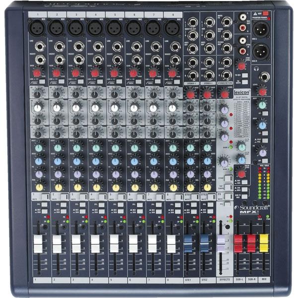 Soundcraft - Mfxi - [MFXi8] Mixer 12 canali con effetti