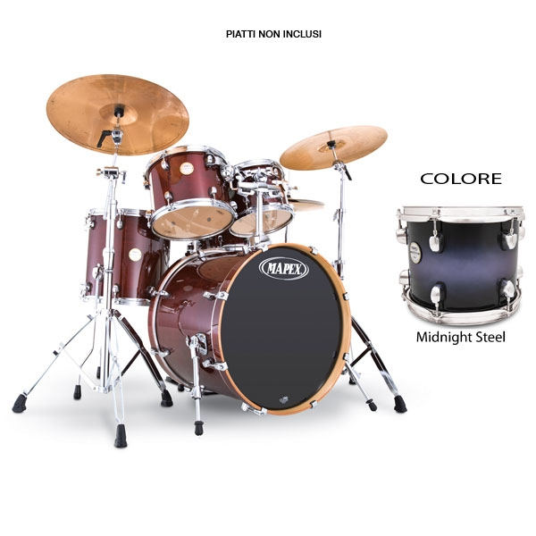 Mapex - Meridian Maple - MP6225PE Studio - Midnight Steel