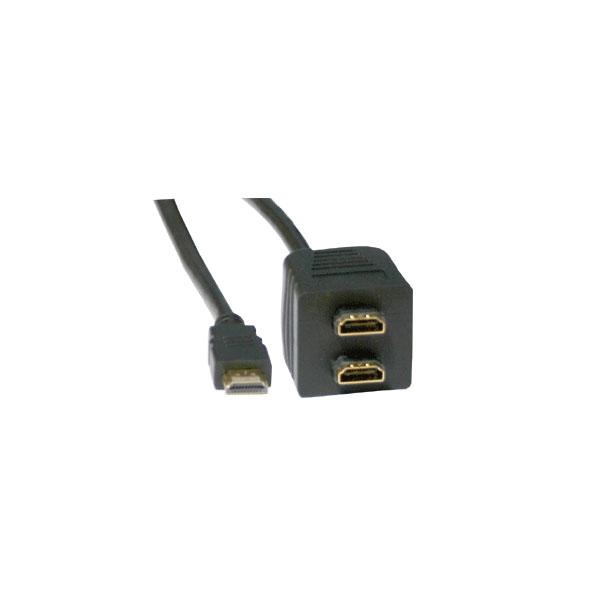 Alpha Elettronica - Adattatore HDMI femmina > 2x HDMI maschio 10cm [64-579/2B]
