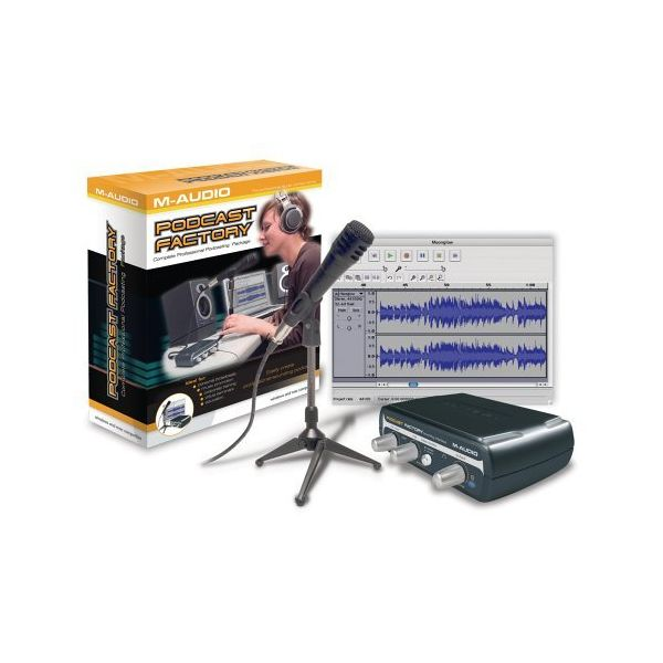 M-Audio - Podcast factory professional podcasting solution