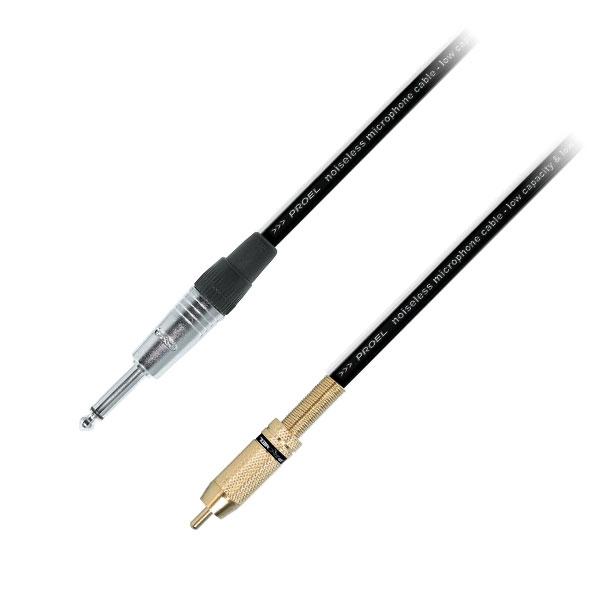 Proel - Cavo jack ø6,3mm mono M > RCA M 3mt [SA0510904]