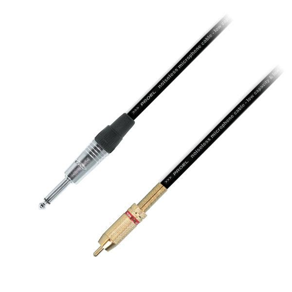 Proel - Cavo jack ø6,3mm mono M > RCA M 5mt [SA0510906]