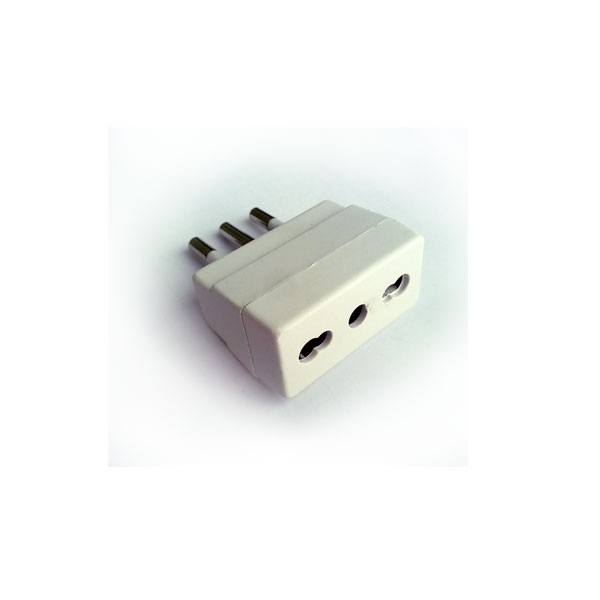 Alpha Elettronica - Adattatore da spina 16A a presa bipasso [23-57B]