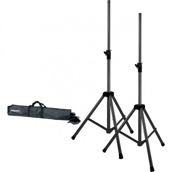 Proel - [SPSK300KIT] Coppia di supporti per diffusori + borsa