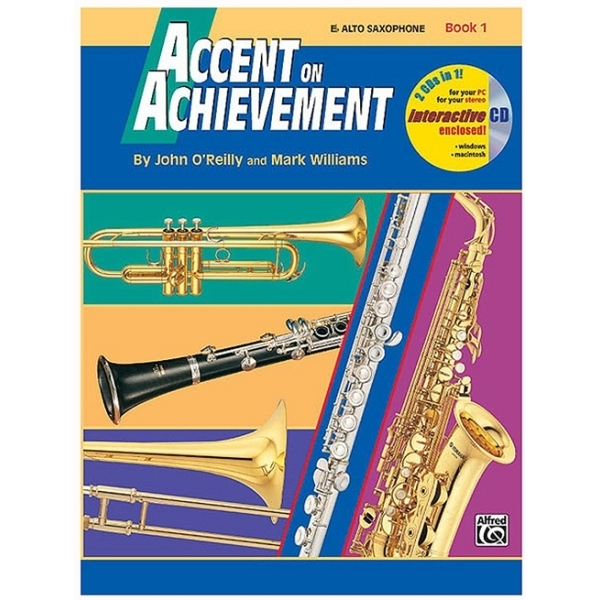 Alfred Publishing - John O'Reilly / Mark Williams - Accent on Achievement Eb Sax Alto Book 1