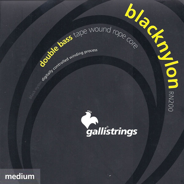 Gallistrings - Black Nylon - [RN200] Set 4 corde contrabbasso medium