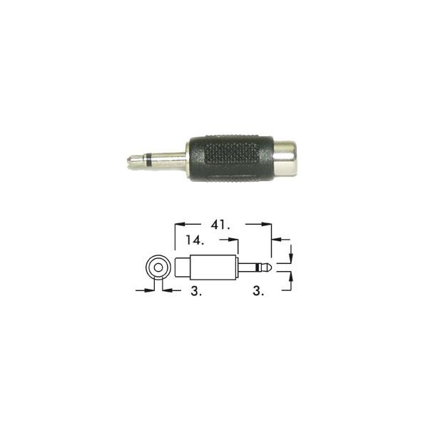 Alpha Elettronica - Adattatore jack ø3,5mm mono maschio > RCA femmina [70-315]