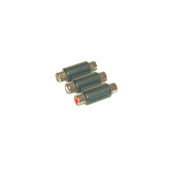 Alpha Elettronica - Adattatore 3x RCA femmina > 3x RCA femmina [70-335]
